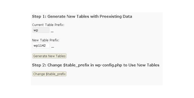 Plugin Table Rename